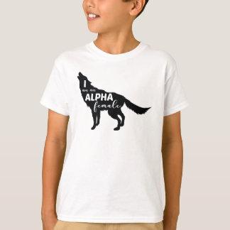 Camiseta Soy un chica femenino alfa del lobo