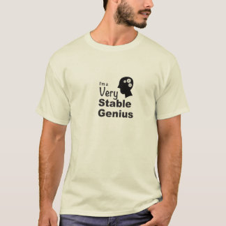 Camiseta Soy un genio muy estable