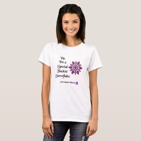 Camiseta Soy un guerrero especial de la sarcoidosis del
