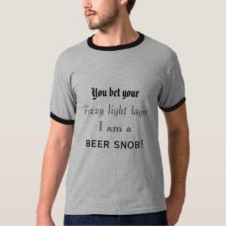 Camiseta Soy un snob de la cerveza