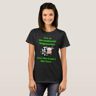Camiseta Soy un vegetariano de segunda mano (la vaca)