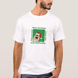 Camiseta Spinone Italiano la navidad clara