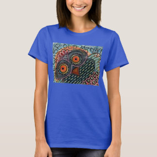 Camiseta Sr. sabio Owl T-Shirt de las mujeres viejo