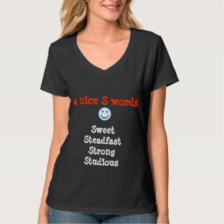 Camiseta SSS estudioso fuerte firme dulce