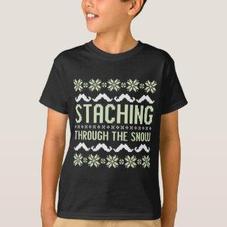 Camiseta Staching a través de la nieve