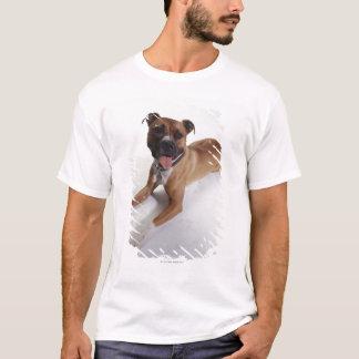 Camiseta Staffordshire Terrier americano que se acuesta,