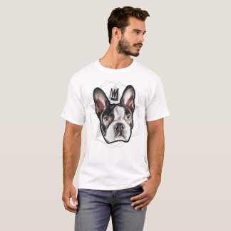 Camiseta Streetwear para hombre: Rey Boston Terrier