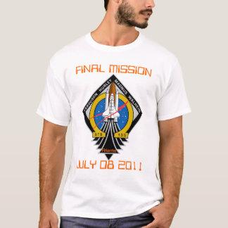 Camiseta STS-135 remiendo, misión final, el 8 de julio de