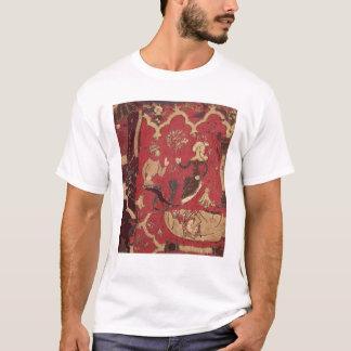 Camiseta Stumpwork que representa Tristan y a Isolda