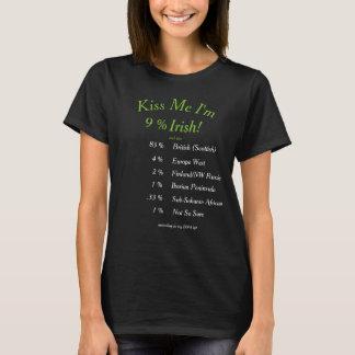 Camiseta ¡Su DNA probada me besa que soy irlandés!
