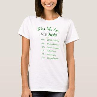 Camiseta ¡Su DNA probada me besa que soy irlandés! en el