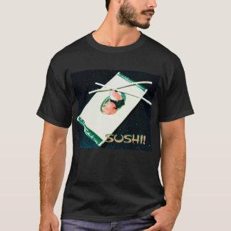 Camiseta Suave. ¡Cada día, negro, SUSHI!