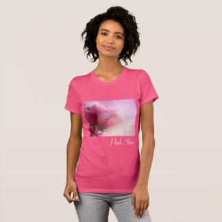 Camiseta subió estrella del rosa de los as