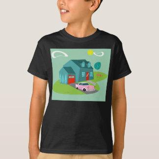 Camiseta suburbana retra de la casa