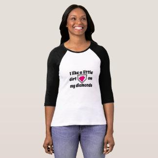 Camiseta Suciedad del softball en diamantes