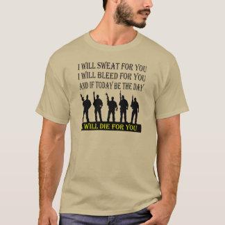 Camiseta Sudaré el corrimiento y moriré por usted