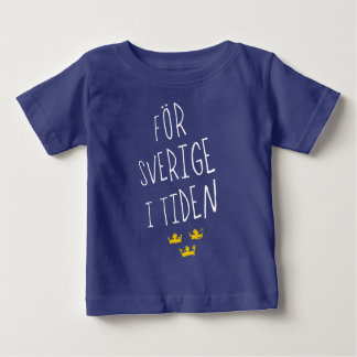 Camiseta sueca del lema de För Sverige i Tiden