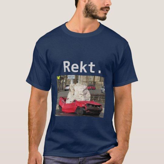 """Camiseta sumada videojugador del coche de """"Rekt"""""""