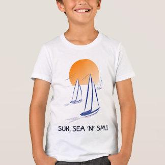 "Camiseta Sun, yates de Coastal de la vela del mar ""N"""