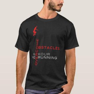 Camiseta Supere los obstáculos:: En negro