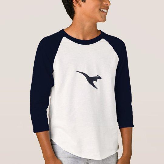 Camiseta superior del raglán de los muchachos de