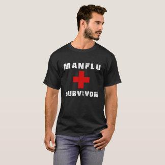 Camiseta Superviviente de la cita de la gripe del hombre