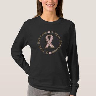 Camiseta Superviviente rosado del cáncer de pecho de la