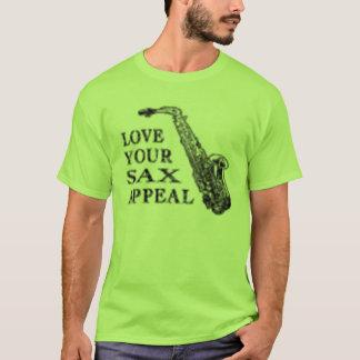 Camiseta súplica del saxofón