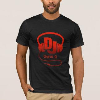 Camiseta Sus auriculares conocidos de DJ del rojo