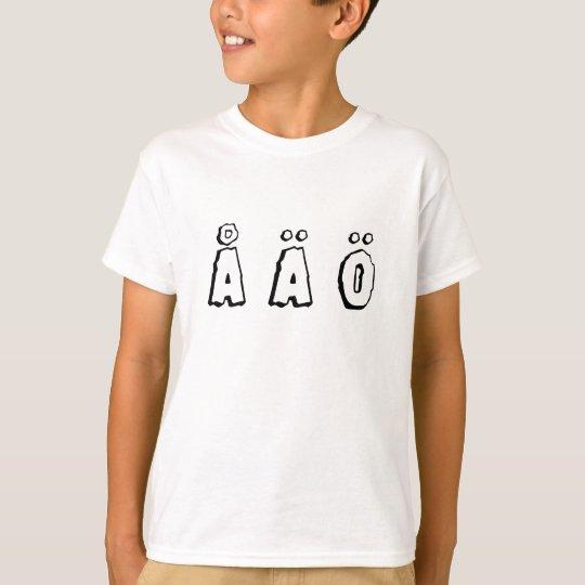 Camiseta swedish letters (å ä ö)