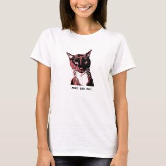 Camiseta T-camisa-ALIMENTACIÓN del gato del smoking el