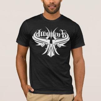 Camiseta T negros del logotipo del guarda