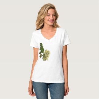 """Camiseta T-shirt V-neck Hanes Nano de """"la Bonita Flor """""""