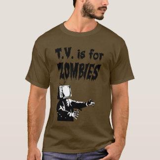 Camiseta T.V. está para los zombis