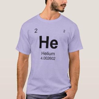Camiseta Tabla de elementos periódica (helio)