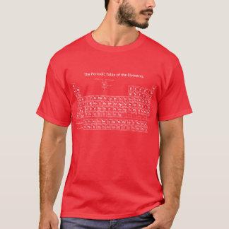 Camiseta Tabla periódica de los elementos - blanco