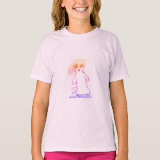 camiseta tagless de los chicas rosa clara