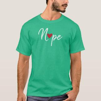 Camiseta Tarjetas del día de San Valentín antis Nope