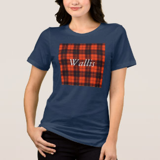 Camiseta Tartán del escocés de la tela escocesa del clan de