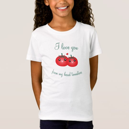 Camiseta Te amo de mi retruécano lindo de la fruta de los