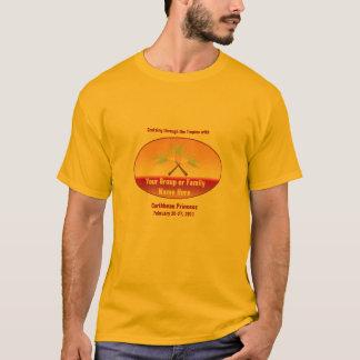 Camiseta Te cruzada de la travesía del grupo de las palmas