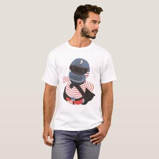 Camiseta Te hecha a mano del gráfico del carácter del mono