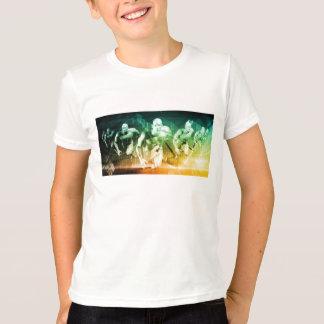 Camiseta Tecnología avanzada como ÉL fondo del concepto
