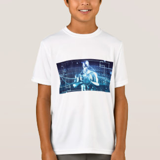 Camiseta Tecnologías integradas en un concepto llano global