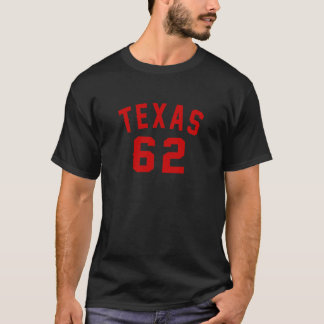 Camiseta Tejas 62 diseños del cumpleaños