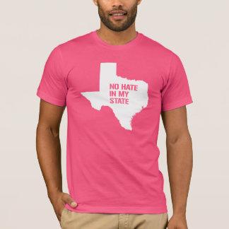Camiseta Tejas: Ningún odio en mi estado