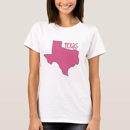 Camiseta Tejas rosado