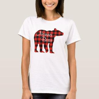Camiseta Tela escocesa del oso de Nonna