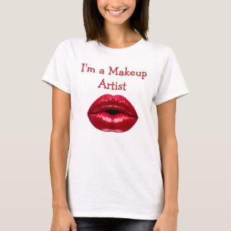 Camiseta Tema del artista de maquillaje