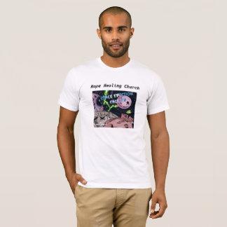 Camiseta temática cristiana del espacio de la
